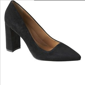 Banana Republic Madison Block Heel Pump 6.5 Black